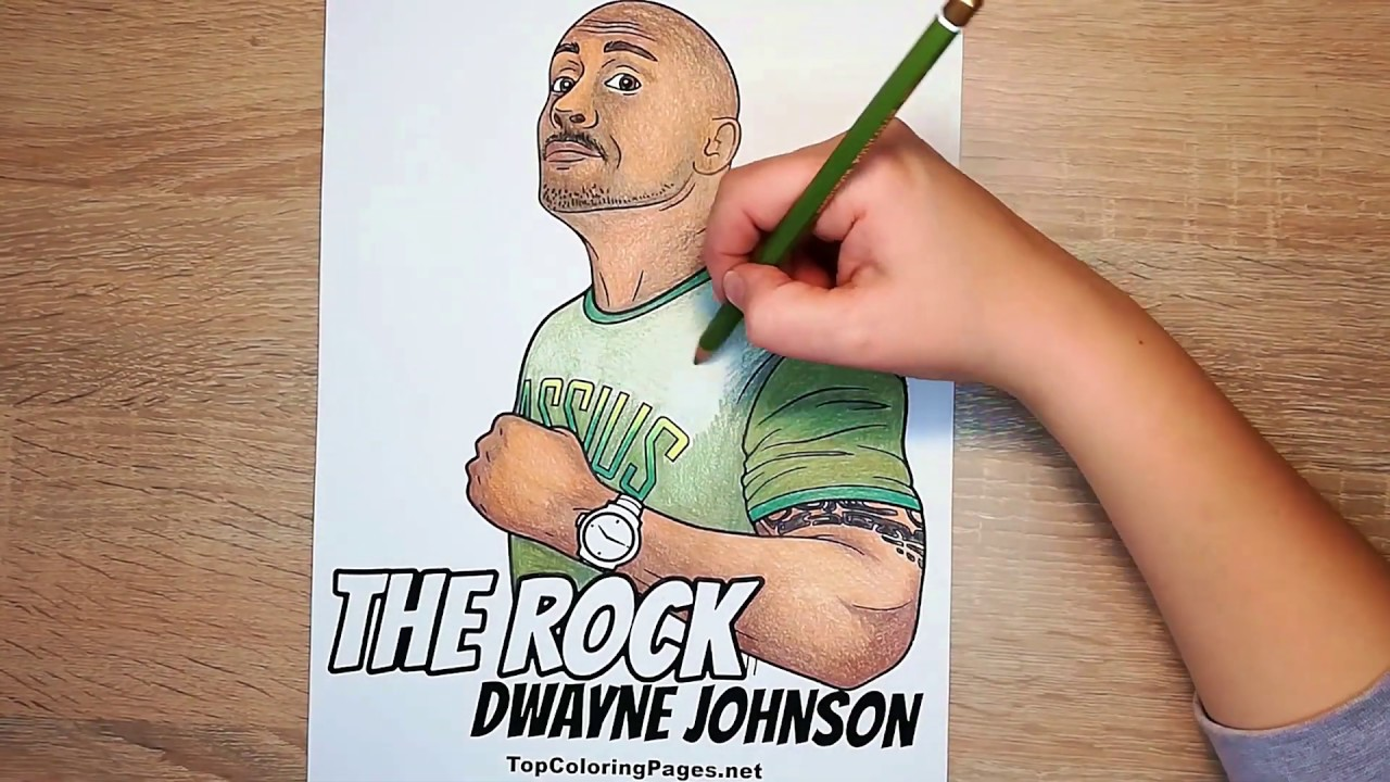 Dwayne The Rock Johnson Coloring Page Speed Coloring