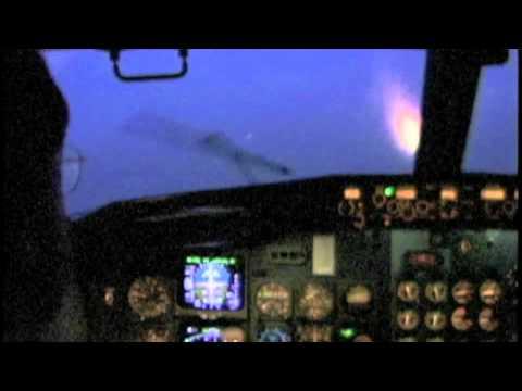 Bad Weather 737 Cockpit Landing Brussels (1998)