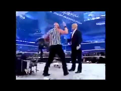 MR PRESIDENT OF United States DONALD TRUMP GETS SLAMMED ON WWE