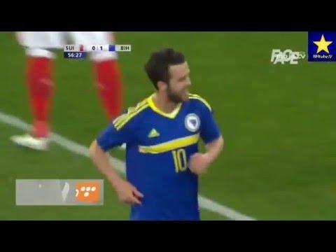 Miralem Pjanic - fantastic goal VS Switzerland