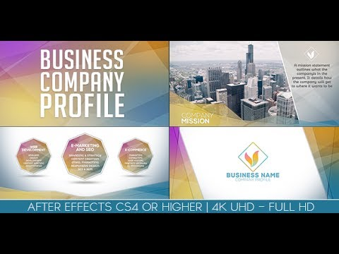 Business company profile after effects template youtube for Company profile after effects templates free download