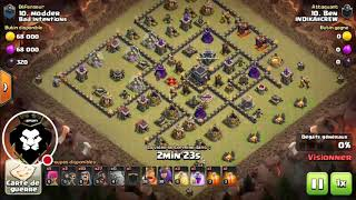 Attaque Perf Hdv9 GoHog / INDIKA#CREW Clash of Clans