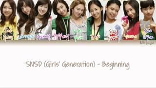 Girls' Generation (SNSD) (소녀시대) - Beginning Lyrics (Han|Rom|Eng|Color Coded) #TBS