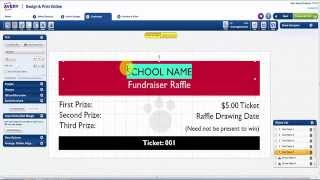 How to Design & Print Ticket Stubs in Avery Design & Print Online