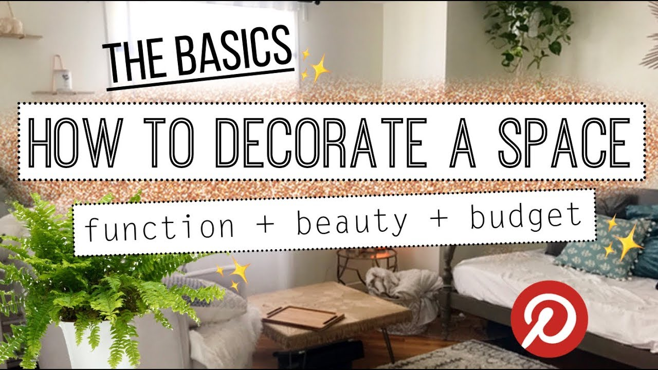 How To Decorate Your Home! Minimalist Decorating Basics 101 - YouTube