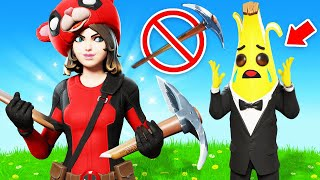 The *NO PICKAXE* Challenge in Fortnite! (VERY HARD)