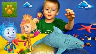 Морские Животные для Детей с Фиксиками Симка и Нолик  Детям про животных Все Серии подряд Сборник