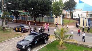 Defile Drumband STPI Saat Berkunjung Ke STTD Bekasi