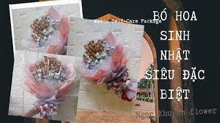 Bó hoa sinh nhật| Tự tay bó hoa sinh nhật từ kẹo bánh