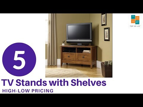 5 Best TV Stands with Shelves in US 2020 Updated List