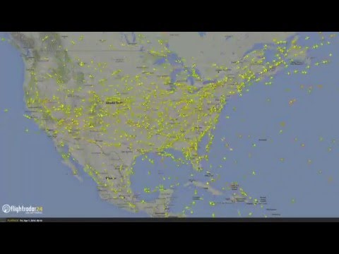 A Day in a Minute—24 Hours of Flight in the United States