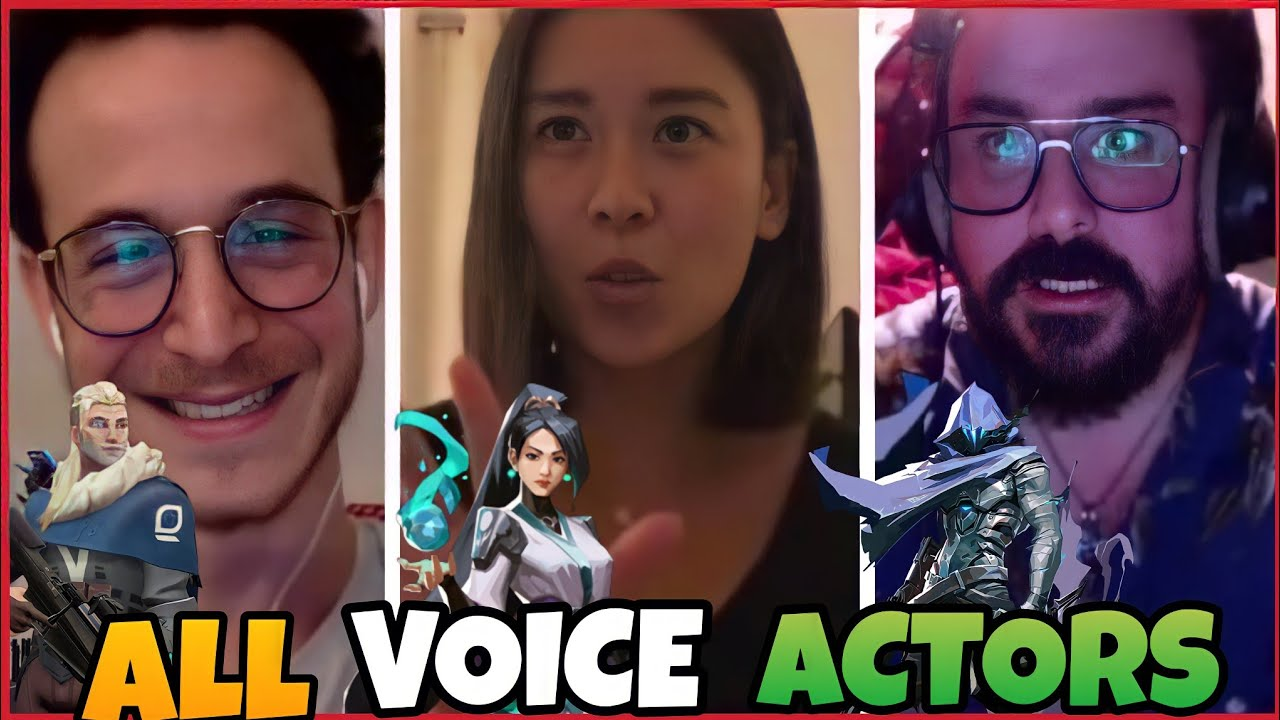 All Valorant Voice Actors Live Voice Acting Agents Voice lines