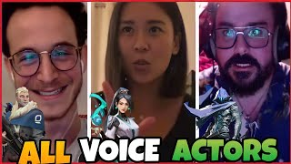 All Valorant Voice Actors Live Voice Acting Agents Voice lines