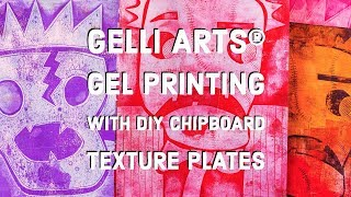 Create Scary Portraits with DIY Chipboard Texture Plates and Gelli Arts® Printing Plates