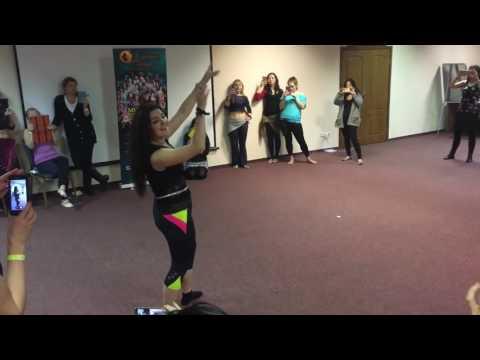 Yulia Redkous dancing Elly taabna Seneen Fe Hawah at Cairo Mirage festival