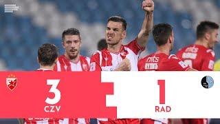 CRVENA ZVEZDA - RAD | 3:1 Highlights|  Superliga Srbije