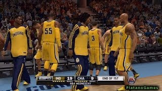 NBA Live 14 PS4 - Indiana Pacers vs Charlotte Bobcats - Halftime Highlights Show - HD