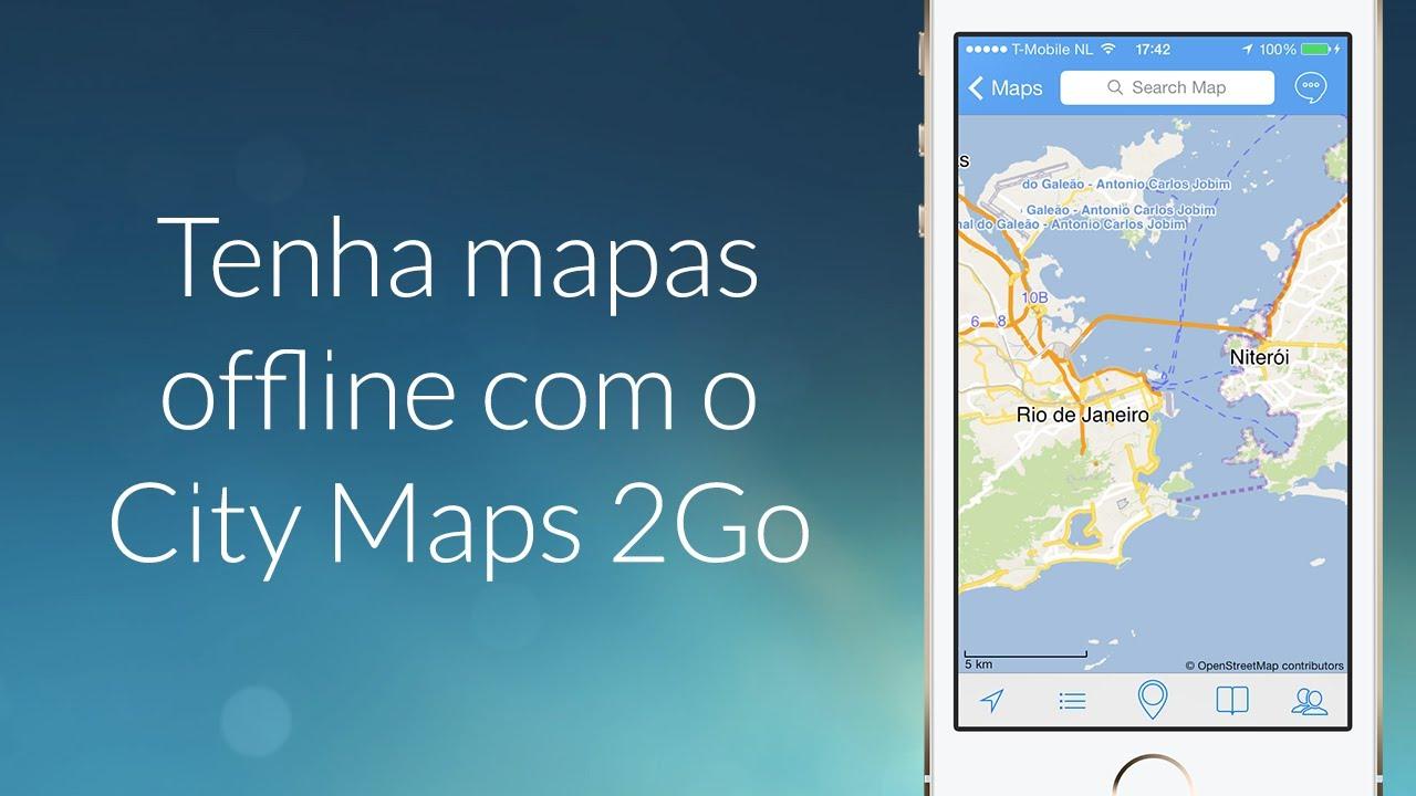 Tenha mapas offline com o City Maps 2Go - App Review - iDN