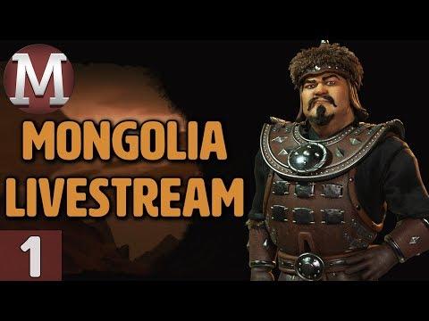 Civ 6: Rise & Fall - Mongolia Livestream Gameplay - Part 1