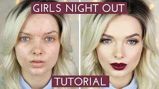 acne coverage girls night out makeup tutorial mypaleskin