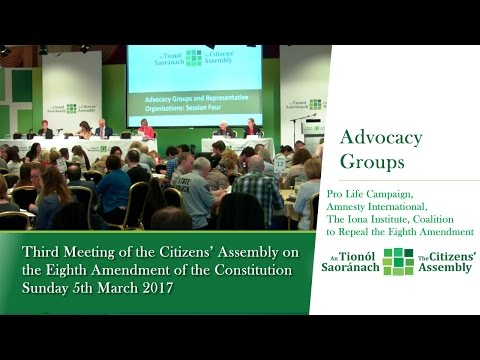 Advocacy Groups and Representative Organisations: Session 4 - Citizens' Assembly (March 5 2017)