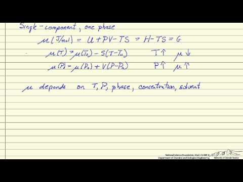 Lecture 3 : Concept of Chemical Potential