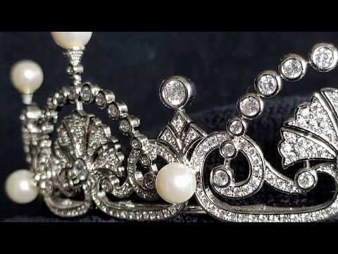 The Crown Jewels Copy Replica Fake Faux : The Lotus Flower /Papyrus  Leaf  tiara (COPY)