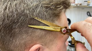 Стрижка ножницами без машинки на волнистый волос