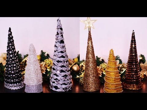 DIY Cone Table Decors For Christmas/New Year Ornaments