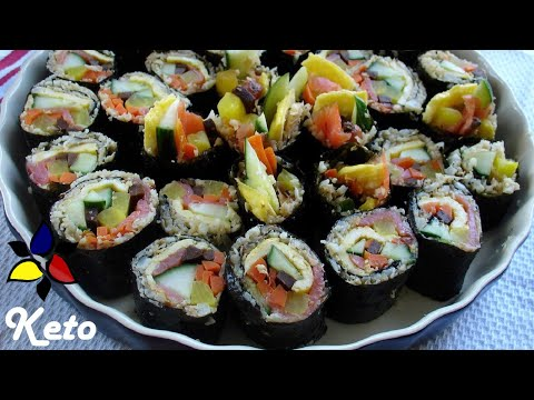 Gimbap,  Kimbap (keto, gluten free, sugar free)