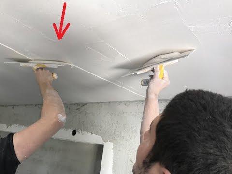 Alçı, alçı ve alçı levha ile tavan nasıl düzeltilir