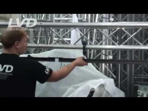 Монтаж антрактно-раздвижного занавеса, длина до 10м  Http://stage@lamo.com.ua