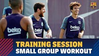 Barça trains anew minus those players on international duty