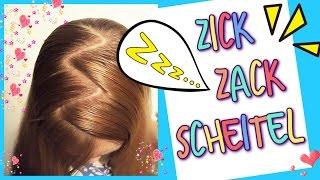 Zick Zack Scheitel ★ So geht´s ★coole Mädchen Zöpfe & Frisuren