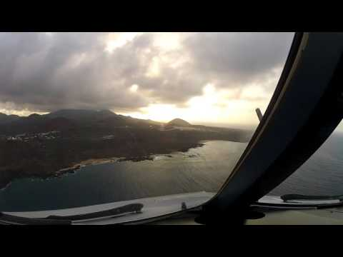 Approach and landing at Ascension Island