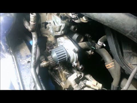 Water pumptiming belt  2005 Dodge Stratus 24L DOHC  YouTube