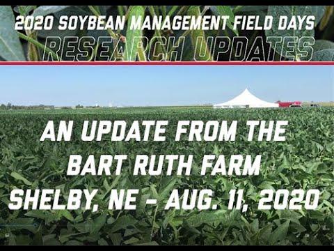2020 Nebraska Soybean Management Field Days Progress - Aug. 11, 2020 Update
