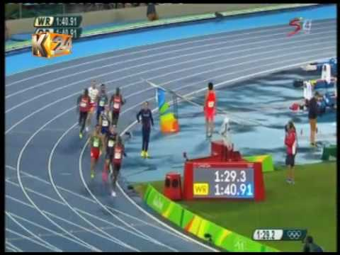 David Rudisha bags gold in the 800 m finals in Rio