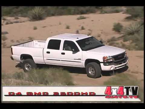2004 GMC 2500HD CrewCab Diesel 4x4 Test - 4x4TV Test Videos