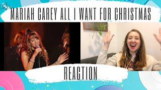 Voice Teacher reacts: Mariah Carey All I Want for Christmas (live at st. john the divine) 1994 Video