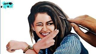Priya Prakash Varrier Realistic Painting | Priya Prakash Sketch - Oru Adaar Love
