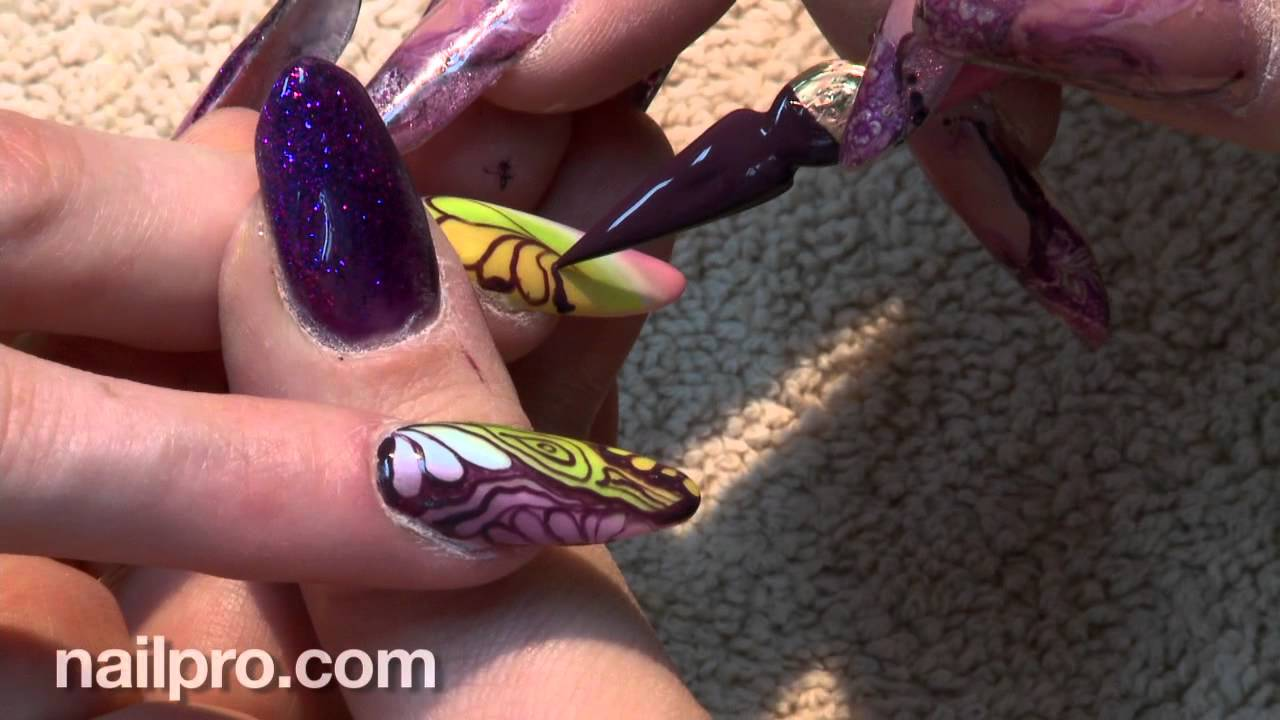 Behind The Nail Pros Butterfly Nails May 2012 Youtube