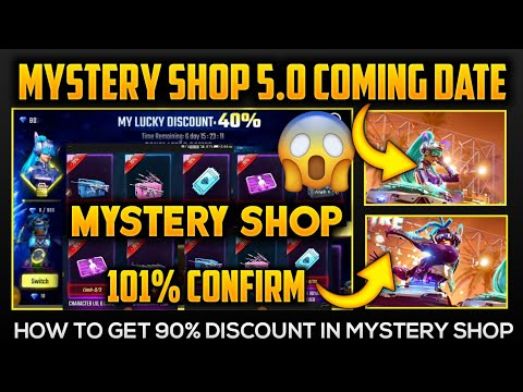 Garena Free Fire Mystery Shop 5.0 Details | 90% Discount in Mystery Shop 5.0 | Back To School Event
