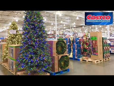 COSTCO CHRISTMAS DECORATIONS CHRISTMAS DECOR TREES SHOP WITH ME SHOPPING STORE WALK THROUGH