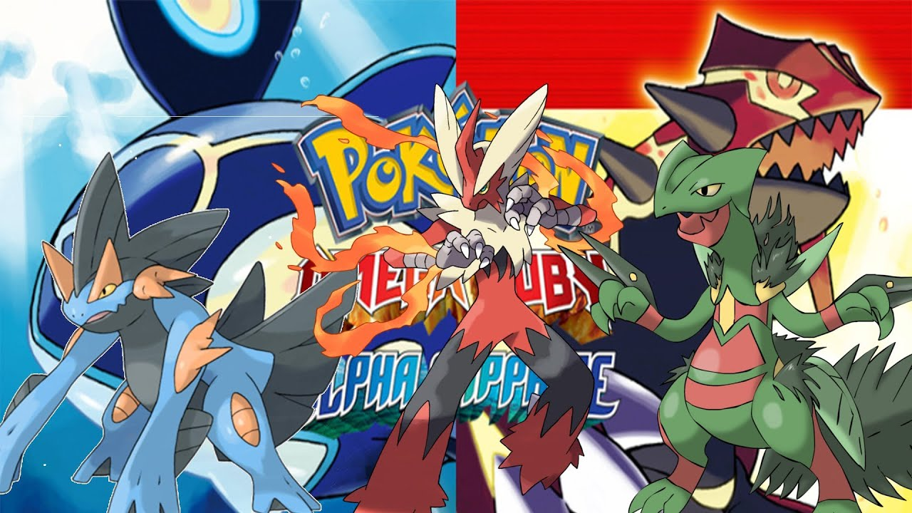 Pokemon omega ruby alpha sapphire hoenn starter mega evolutions youtube - Pokemon version rubis evolution ...