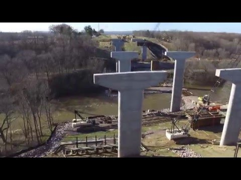 Highway 12 Bypass Bridge Construction