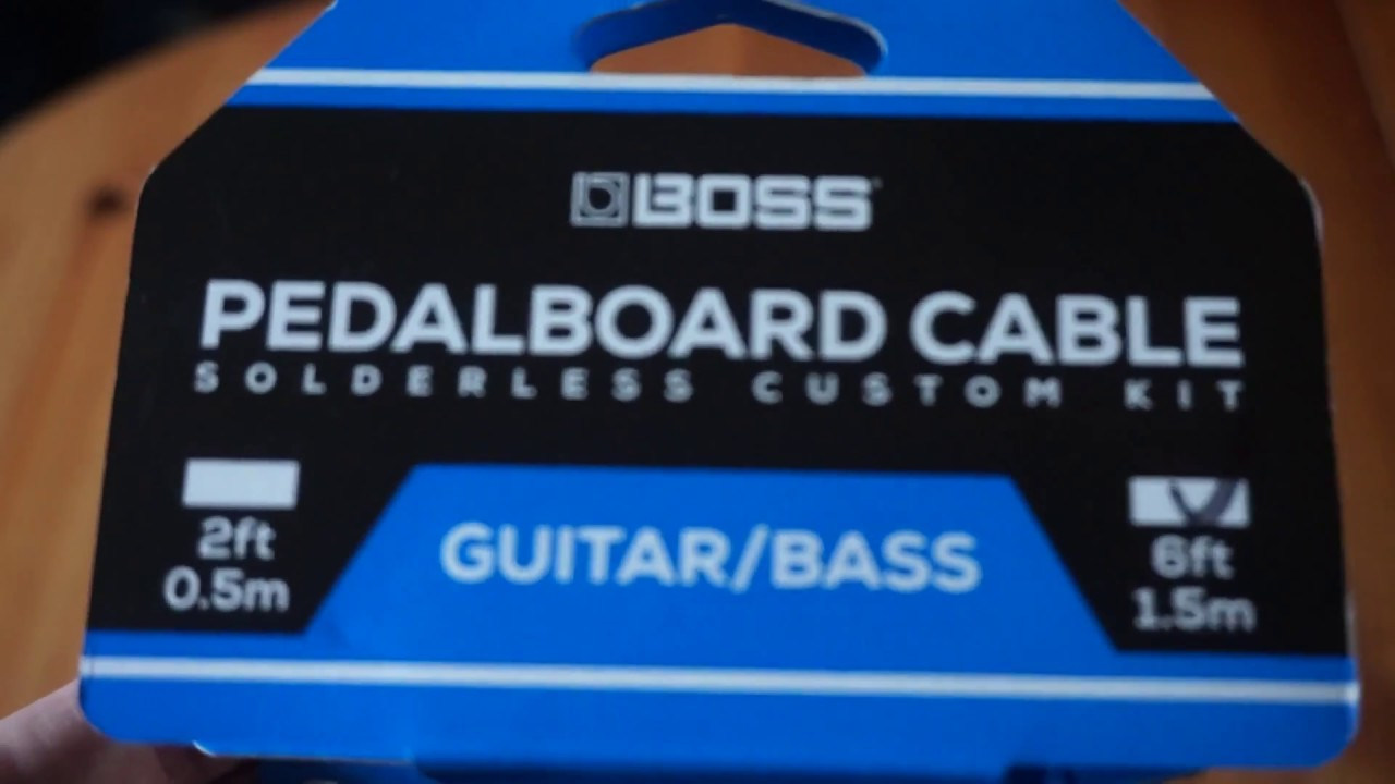 Boss Solderless Pedalboard Cables How To Assemble Youtube Guitar Pedal Board Wiring Kit