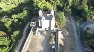 Castelo Santa Maria da Feira aerial view