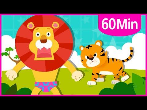 Favorite Animal + Shark Songs 60m ♪ | Nursery Rhymes for Kids | Tidi Songs for Children ★TidiKids