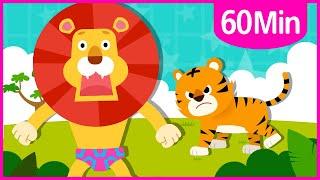 Favorite Animal + Shark Songs 60m♪ | Nursery Rhymes for Kids | Tidi Songs for Children ★TidiKids